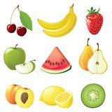 Fruits icons Royalty Free Stock Image