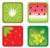 Fruits icons Stock Photography