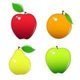 Fruits Icons Stock Image