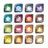 Fruits Icons Stock Images