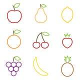 Fruits icons Stock Photos