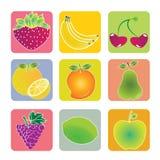 Fruits icons Royalty Free Stock Photos
