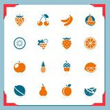 Fruits icons | In a frame series Royalty Free Stock Photo