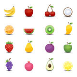 Fruits icons. This image is a vector illustration.Fruits icons Stock Photo