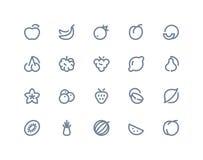 Fruits icons. Line seris Stock Photos