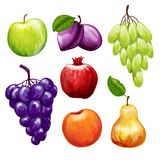Fruits Icons Set Stock Photo