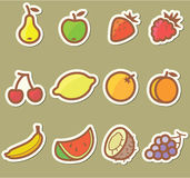 Fruits icons Royalty Free Stock Photos
