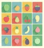 Fruits icons set Stock Images