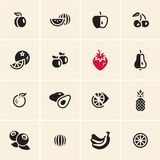 Fruits icons set. royalty free illustration