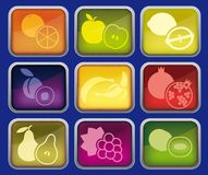 Fruits icons Royalty Free Stock Images