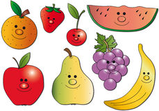 Fruits illustration Royalty Free Stock Image