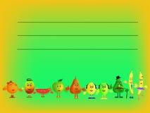 Fruits illustration Stock Photography