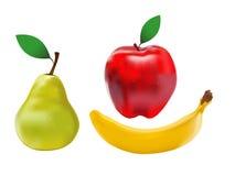 Fruits. Illustration of fruits on white background stock illustration