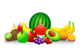 Fruits. Illustrations. EPS 10 file and large jpg included Stock Photo
