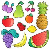 Fruits images collection. Illustration Royalty Free Stock Photos