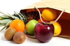 Fruits In Bag Royalty Free Stock Photo