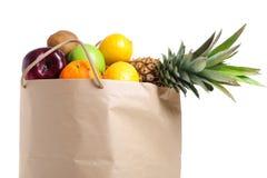 Fruits In Shopping Bag Royalty Free Stock Photos