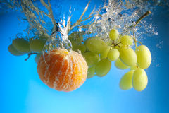 Fruits In Water Royalty Free Stock Image