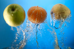 Fruits In Water Royalty Free Stock Images