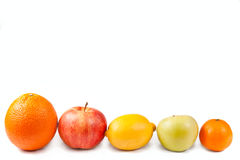 Fruits isolated on white Royalty Free Stock Photography