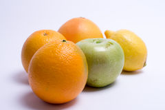 Fruits isolated on a white background. Selective focus Royalty Free Stock Photography
