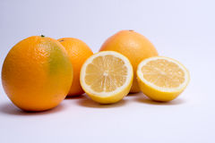 Fruits isolated on a white background. Selective focus Stock Photos