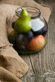 Fruits in jar Stock Image