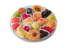 Fruits jelly Stock Images