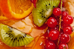 Fruits in jelly Stock Photo