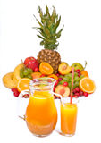 Fruits and juice Stock Photo