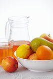 Fruits and juice Stock Image