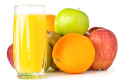 Fruits with juice Royalty Free Stock Photo