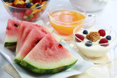 Fruits and juice Stock Photography