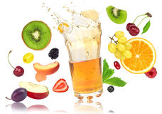 Fruits and juice vector illustration