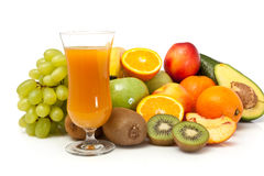 Fruits juice with vegetables Stock Photography