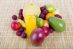 Fruits and juice Royalty Free Stock Photos