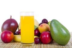 Fruits and juice Stock Photos