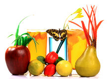 Fruits and juices Stock Image
