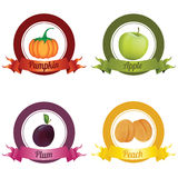 Fruits Labels Stock Photos