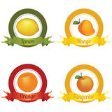 Fruits Labels Royalty Free Stock Images