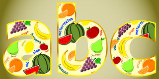 Fruits letter Stock Image