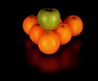 Fruits like billiard balls Royalty Free Stock Photo