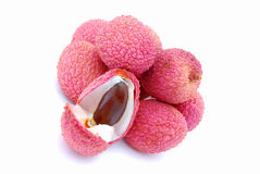fruits litchis тропические Стоковое Изображение