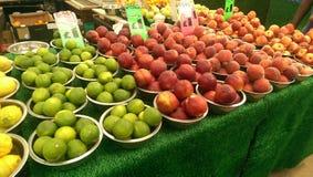 Fruits. On local market stock photos