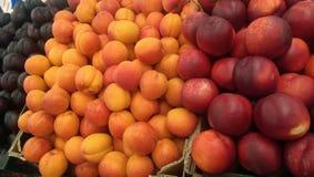 Fruits. At local market royalty free stock photos