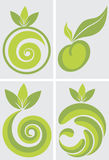 Fruits logo. Illustration art of a fruits logo with isolated background Stock Photo