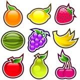 Fruits lustrés Photos libres de droits