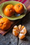 Fruits mûrs de mandarine Photo stock