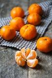 Fruits mûrs de mandarine Photos libres de droits