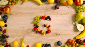 Fruits made letter G Royalty Free Stock Image